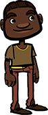 African american boy in beige shirt
